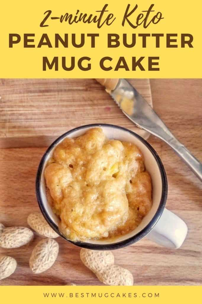 3 Ingredient Flourless Peanut Butter Mug Cake Best Mug Cakes
